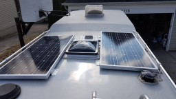 Setting up the solar panels